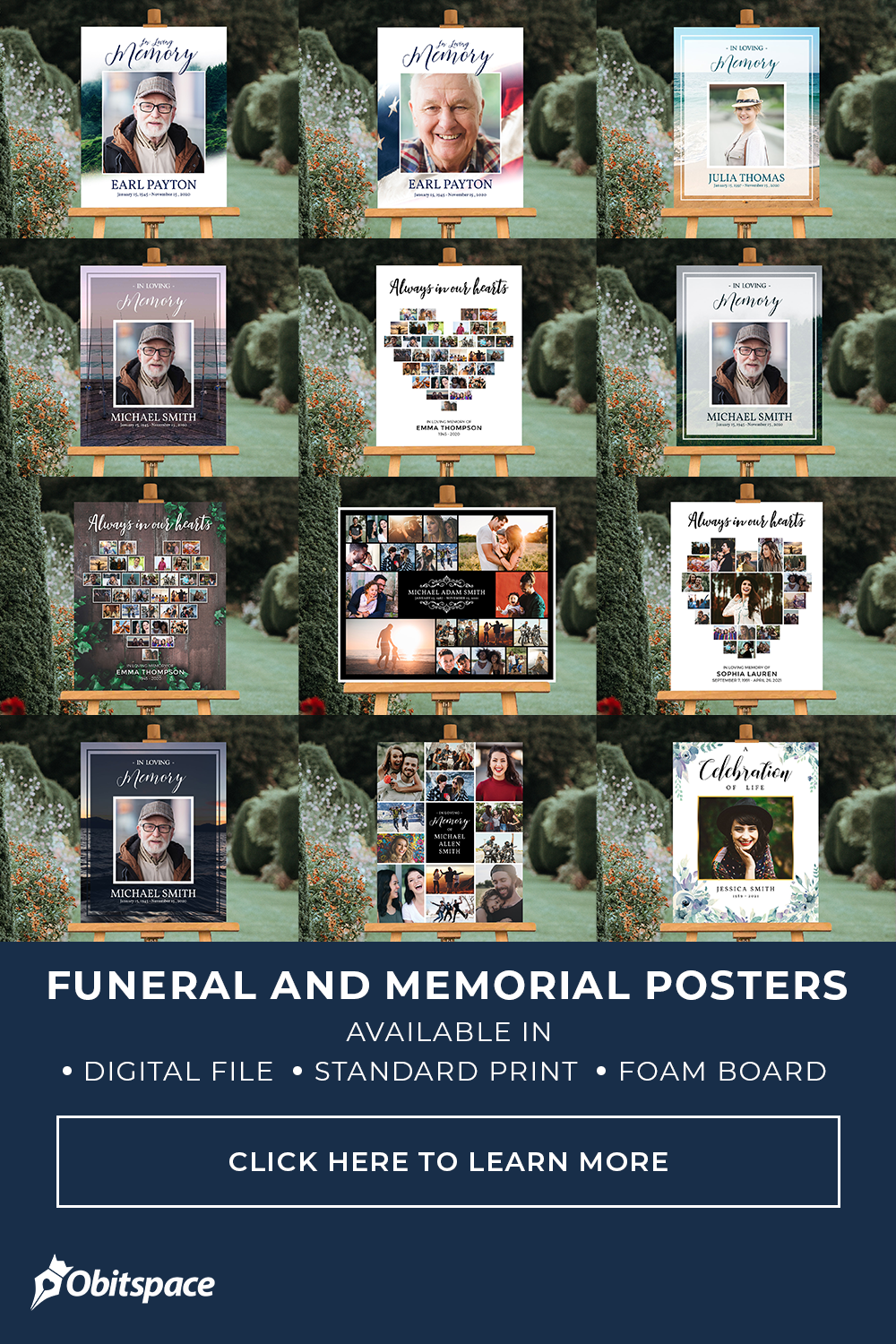 Funeral and Memorial Posters
